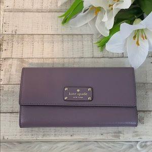 Nwt Kate spade purple Wellesley jean wallet